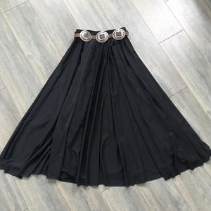 Full circle black GYPSY WITCH SKIRT Stevie Nicks L